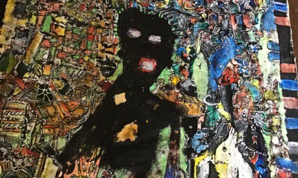 """5 """"Basquiat"""" 34 x 50 cm"""